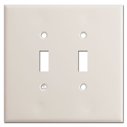 Oversized 2 Toggle Switch Plate - Light Almond