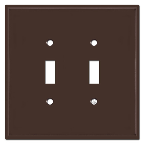 Oversized 2 Gang Toggle Switch Plates - Brown