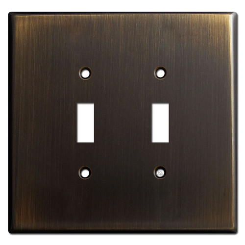 Oversized 2 Toggle Switch Plate - Oil Rubbed Bronze