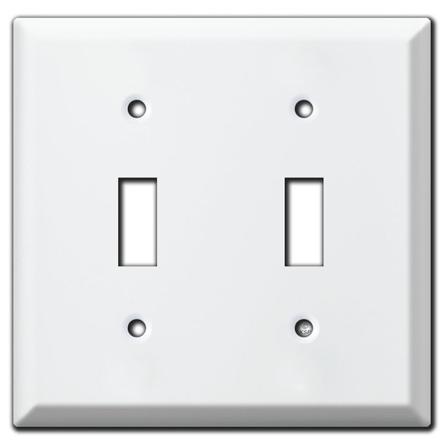 Deep Two Toggle Light Switch Covers - White