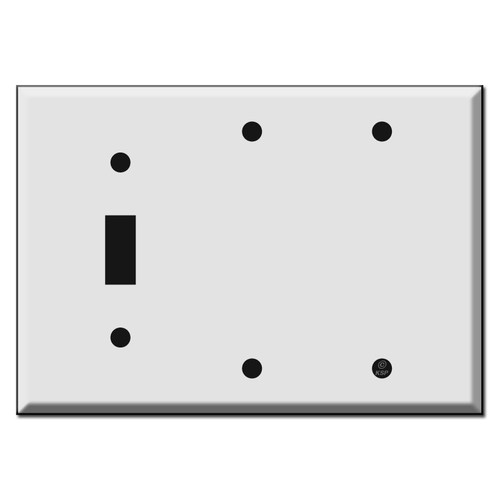 Two Toggle 2 Blank Switch Plate Covers