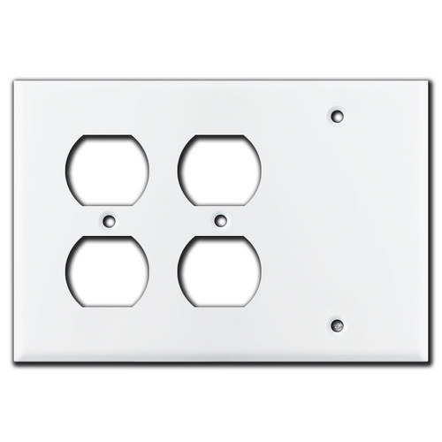 2 Outlets 1 Blank Combo Wall Switch Plates