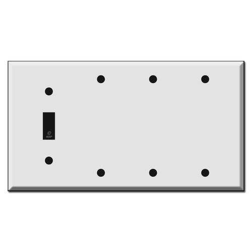 Toggle and 3 Blank Wall Switch Plate Covers