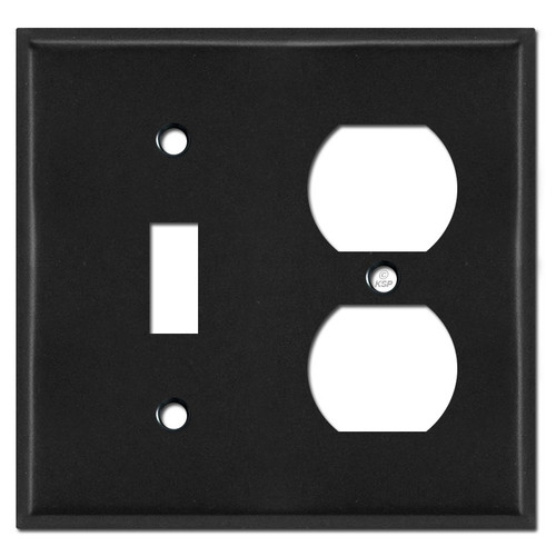 Toggle Outlet Cover Plate - Black