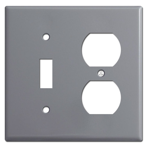 Toggle Duplex Outlet Light Switch Plates - Gray