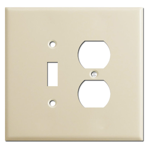 Oversized Toggle Outlet Cover - Ivory