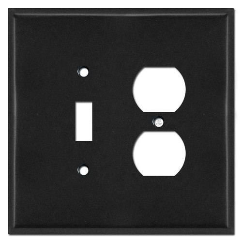 Jumbo Toggle Outlet Cover Plate - Black