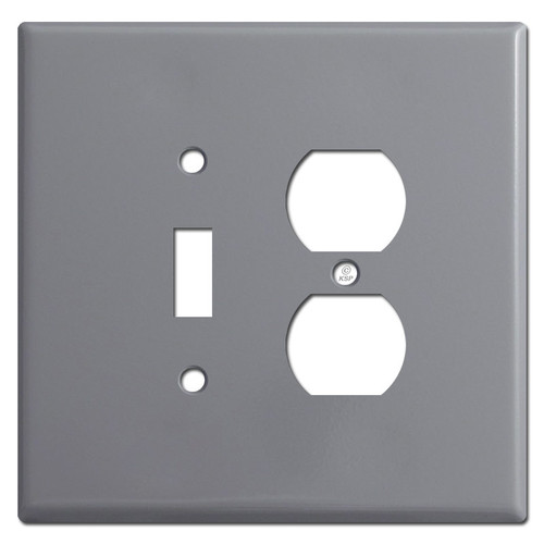 Oversized Toggle Outlet Cover Plate - Gray