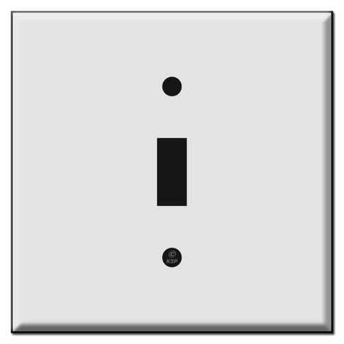 Double Gang Single Toggle Centered Switch Plate Cover