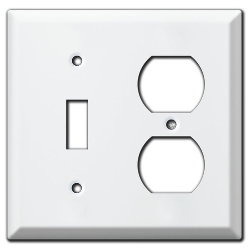 Deep 1 Toggle 1 Duplex Outlet Cover Plates - White