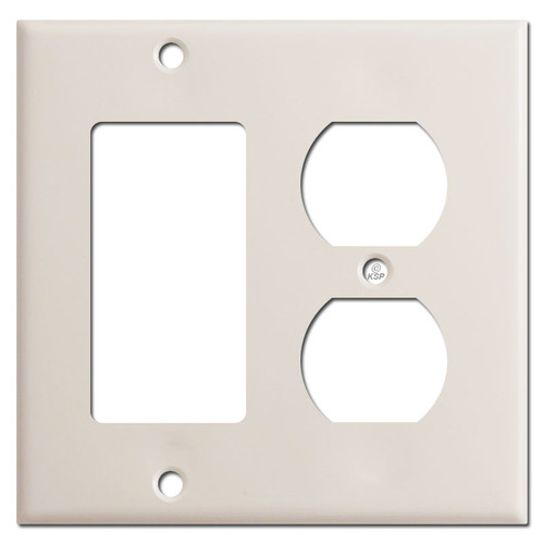 1 Decora Rocker 1 Outlet Cover Switch Plates - Light Almond