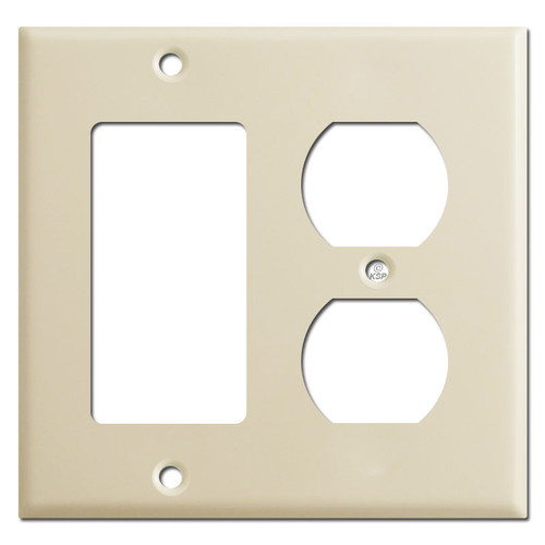 1 Decora Rocker 1 Duplex Outlet Combination Switch Plates - Ivory