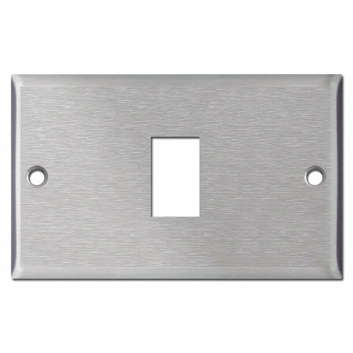 Original Type 1 GE Low Voltage Switch Wallplates - Stainless Steel