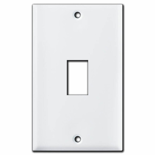 1 Vertical GE Replacement Old Low Voltage Switch Plates - White