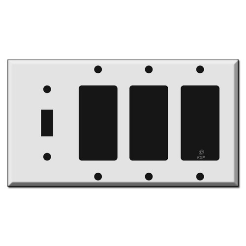 Single Toggle - Triple Rocker Switch Plate Covers