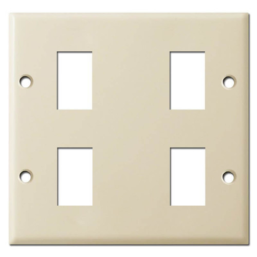 Double Gang Old Style GE 4 Switch Plate Covers - Ivory