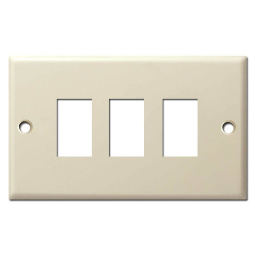 GE Old Style Three Button Low Voltage Wall Light Switch Plates - Ivory