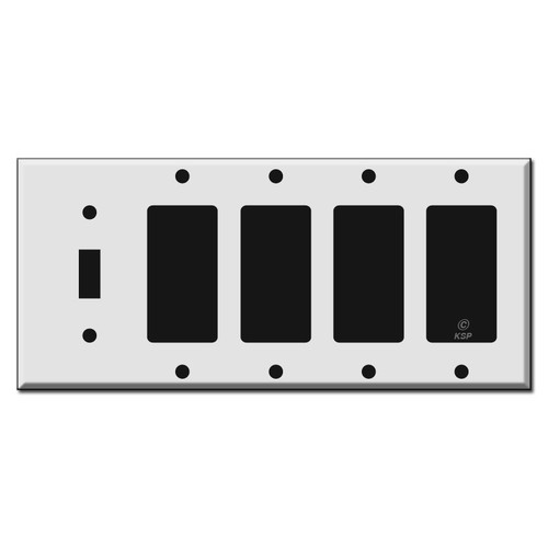 1 Toggle 4 Decora Rocker Light Switchplate