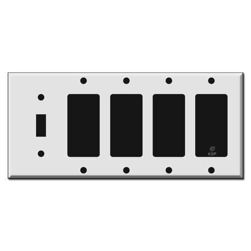 1 Toggle 4 Decora Rocker Light Switchplate