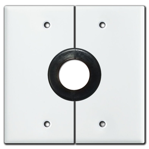 "Product - Split 2 Gang 1"" Hole Sectional Wall Switch Plates - White"