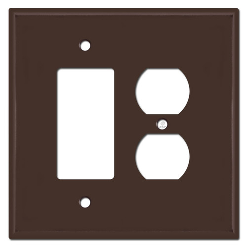 Oversized 1 Decora 1 Duplex Outlet Switch Plate Covers - Brown