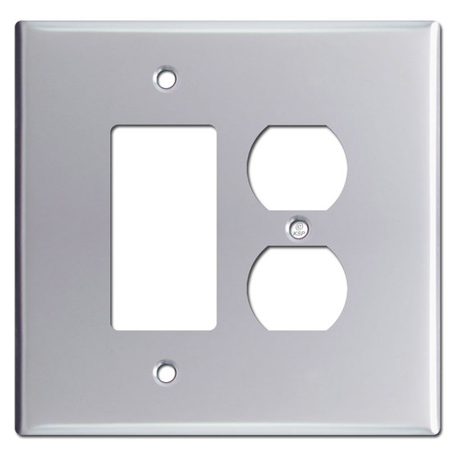 Oversized Rocker & Outlet Cover Switch Plates - Polished Chrome