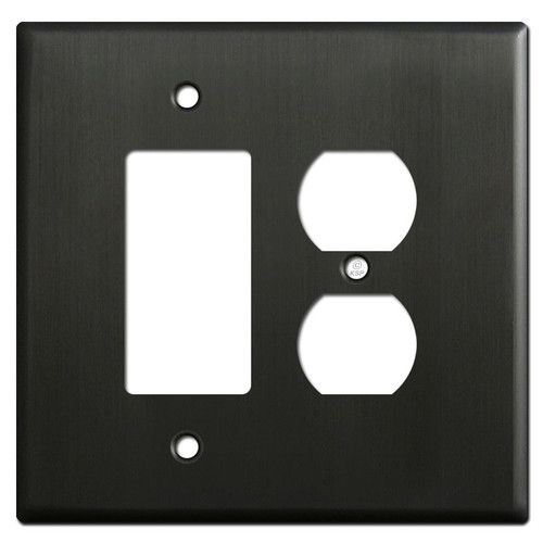 Oversized 1 Decora 1 Outlet Cover Plate - Dark Bronze