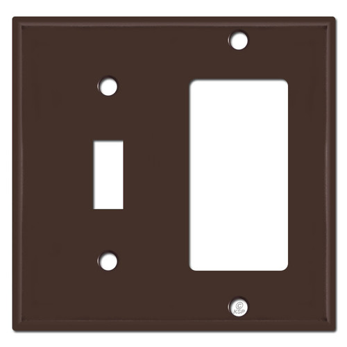 Toggle Switch & GFCI Decora Outlet Combo Switch Covers - Brown