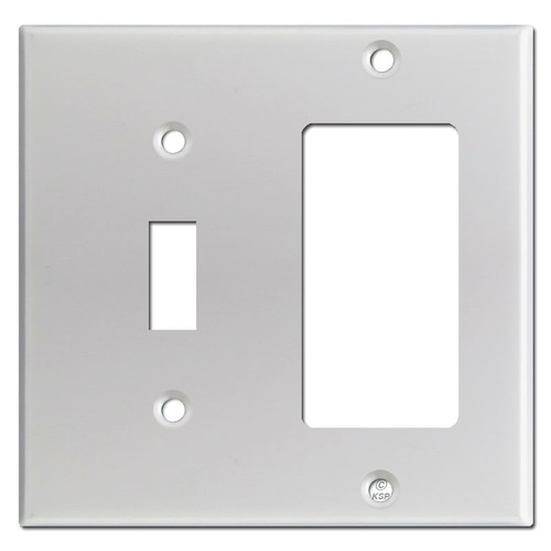 Toggle & GFI Decora Rocker Switch Plates - Brushed Aluminum