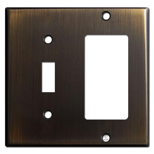 Decora Rocker & Toggle Switch Combination Covers - Oil Rubbed Bronze