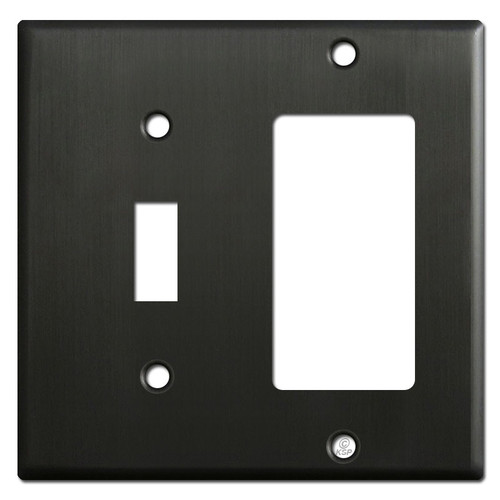 GFI Decora Outlet & Toggle Light Switch Cover Plates - Dark Bronze