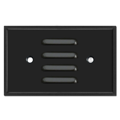 Horizontal Louvered Switch Plate to Cover Light - Black