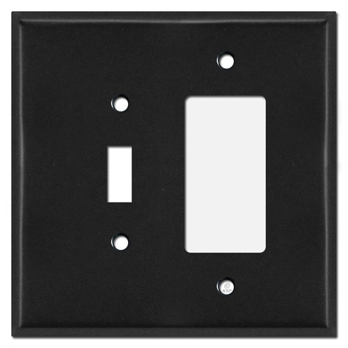 Oversized Toggle Switch & Decora Outlet Cover Plates - Black