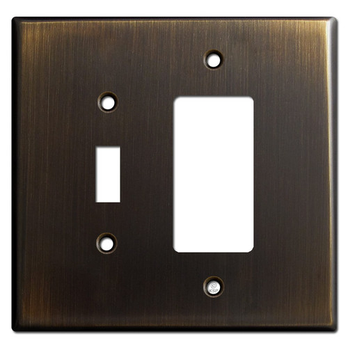 Jumbo Toggle & GFI Outlet Cover Switch Plates - Oil Rubbed Bronze
