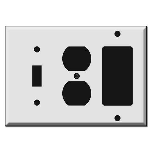 Toggle, Outlet, GFI Decora Rocker Combo Wall Switch Plates