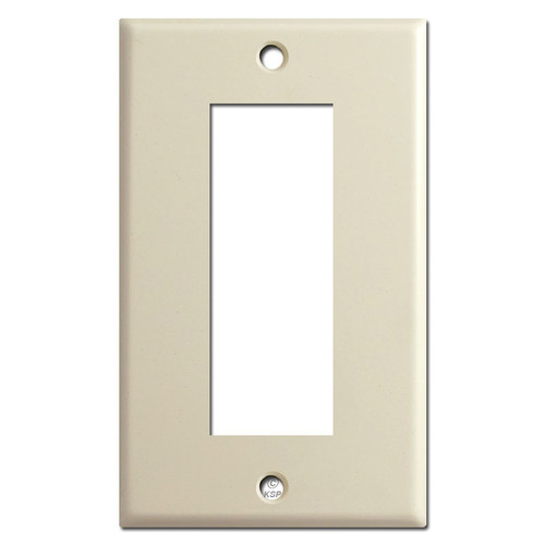 Old Style Sierra Electric Biplex Outlet Cover Switch Plates - Ivory