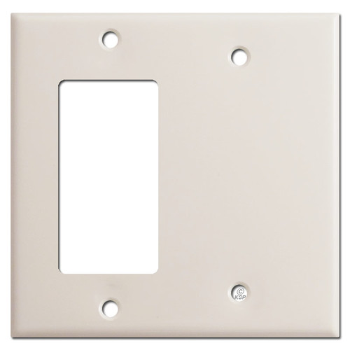 Decora Rocker Switch & Blank Combo Wall Plates - Light Almond