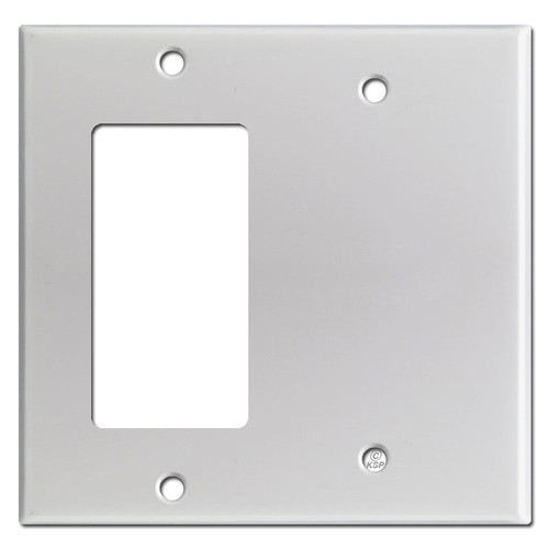 Decora Rocker & Blank Combination Switchplates - Brushed Aluminum
