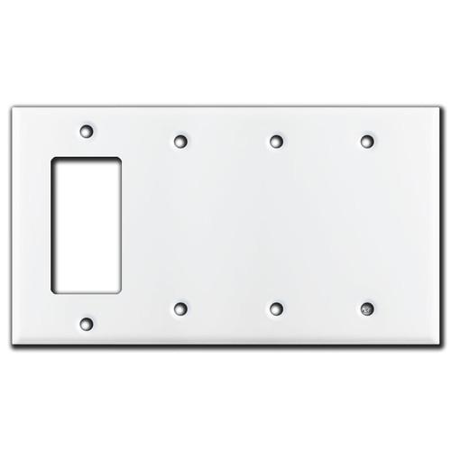 1 Decora Rocker & 3 Blank Switch Wall Plate Covers - White