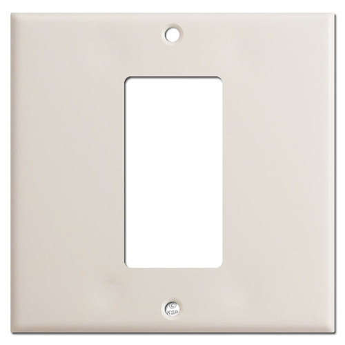 2-Gang 1 Decora Rocker Switch Wall Plate - Light Almond