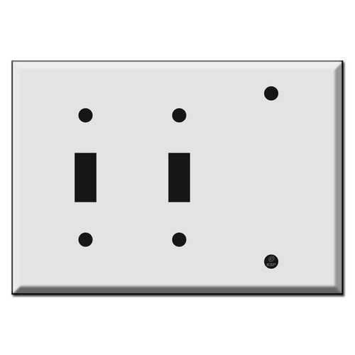 2-Toggle 1-Blank Switch Plate