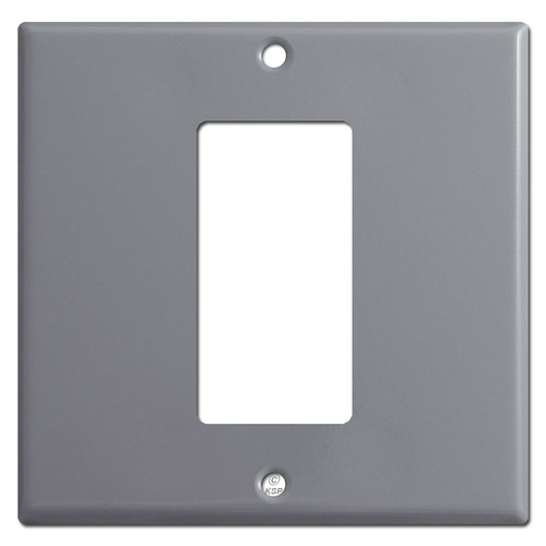 1 Centered Decora Rocker 2-Gang Switch Plate - Gray
