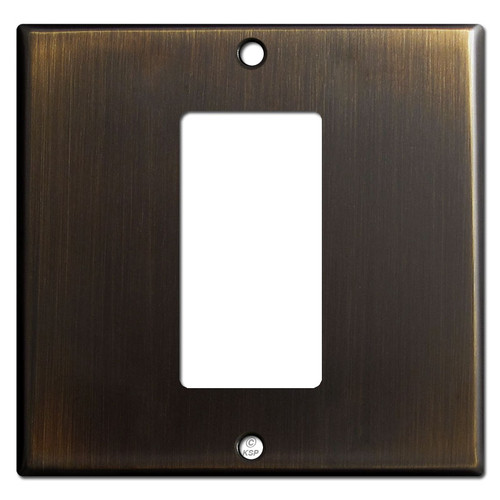 Centered 1 Decora GFCI Device 2-Gang Switch Plates - Oil Rubbed Bronze