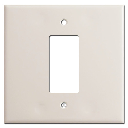 Jumbo Double Gang Centered 1 Decora Switch Wallplates - Light Almond