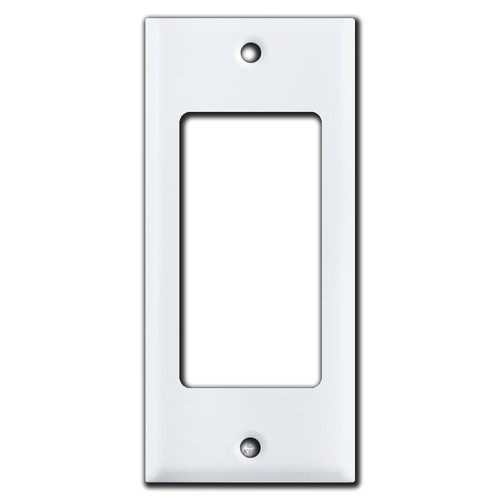 "2"" Narrow 1 GFI Decora Rocker Light Switch Plate Covers - White"