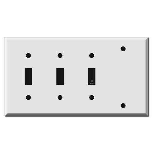 Triple Toggle Single Blank Combo Switch Plate