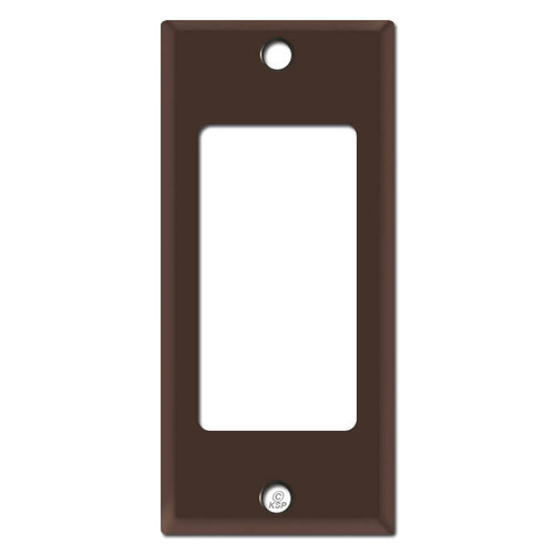 "Narrow 2"" GFCI Decora Rocker Switch Wallplate Covers - Brown"