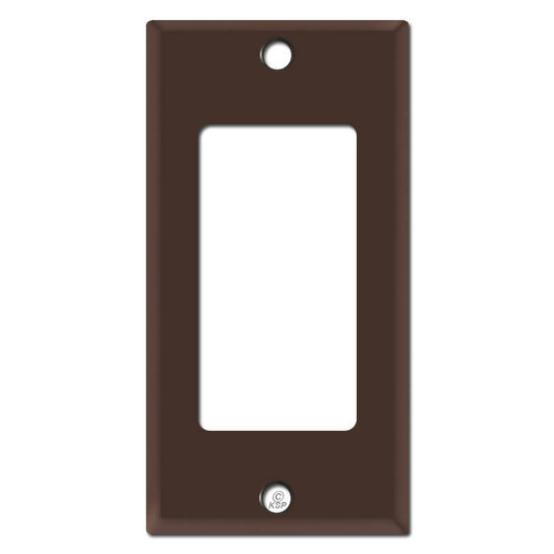 "2.25"" Thin Decora Rocker GFCI Narrow Switch Plates - Brown"