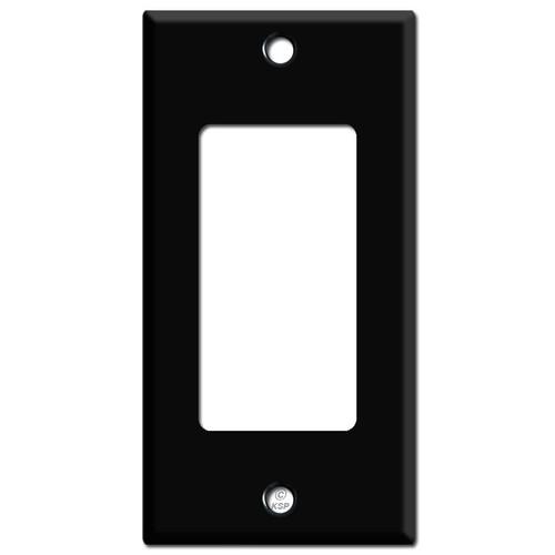 "2.25"" Skinny Decora Rocker GFCI Light Switchplates - Black"