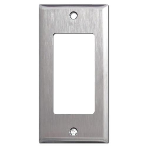 "2.25"" Narrow Rocker GFI Wall Switch Plates - Satin Stainless Steel"